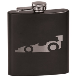 Racing Car Black Flask Set (Personalized)