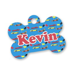 Racing Car Bone Shaped Dog Tag (Personalized)