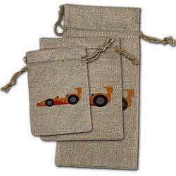 Racing Car Burlap Gift Bags (Personalized)