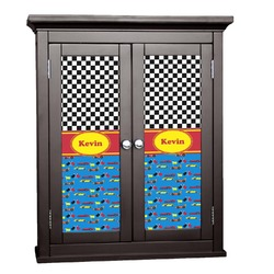 Racing Car Cabinet Decal - Custom Size (Personalized)