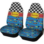 Racing Car Car Seat Covers (Set of Two) (Personalized)