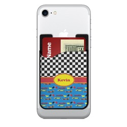 Racing Car 2-in-1 Cell Phone Credit Card Holder & Screen Cleaner (Personalized)