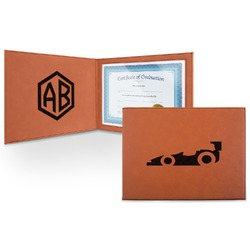 Racing Car Leatherette Certificate Holder (Personalized)