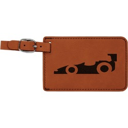 Racing Car Leatherette Luggage Tag (Personalized)