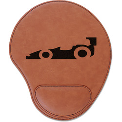 Racing Car Leatherette Mouse Pad with Wrist Support (Personalized)