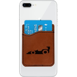 Racing Car Leatherette Phone Wallet (Personalized)