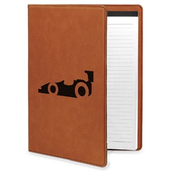 Racing Car Leatherette Portfolio with Notepad (Personalized)