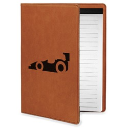Racing Car Leatherette Portfolio with Notepad - Small - Single Sided (Personalized)