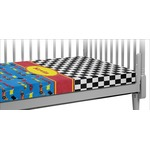 Racing Car Crib Fitted Sheet (Personalized)