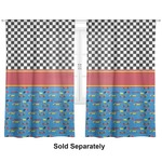 "Racing Car Curtains - 40""x84"" Panels - Unlined (2 Panels Per Set) (Personalized)"