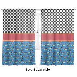 "Racing Car Curtains - 20""x84"" Panels - Lined (2 Panels Per Set) (Personalized)"