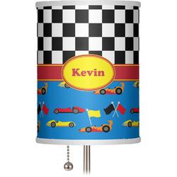 """Racing Car 7"""" Drum Lamp Shade (Personalized)"""