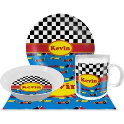 Racing Car Dinner Set - 4 Pc (Personalized)