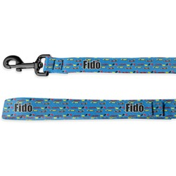 Racing Car Deluxe Dog Leash - 4 ft (Personalized)