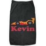 Racing Car Black Pet Shirt (Personalized)