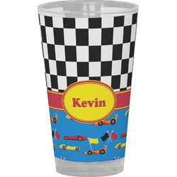 Racing Car Drinking / Pint Glass (Personalized)