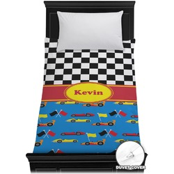 Racing Car Duvet Cover - Twin (Personalized)