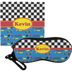 Racing Car Eyeglass Case & Cloth (Personalized)