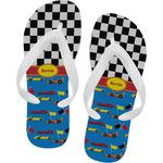 Racing Car Flip Flops (Personalized)