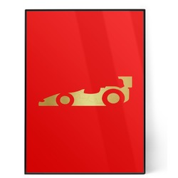 Racing Car 5x7 Red Foil Print (Personalized)