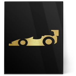 Racing Car 8x10 Foil Wall Art - Black (Personalized)