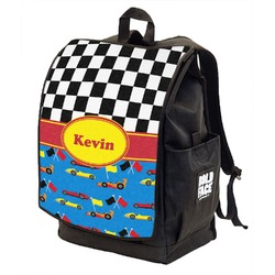 Racing Car Backpack w/ Front Flap  (Personalized)
