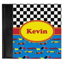 Racing Car Genuine Leather Baby Memory Book (Personalized)