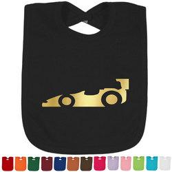 Racing Car Foil Toddler Bibs (Select Foil Color) (Personalized)