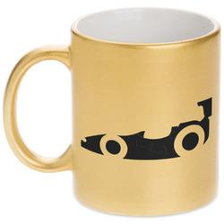 Racing Car Gold Mug (Personalized)