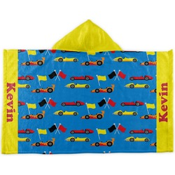 Racing Car Kids Hooded Towel (Personalized)