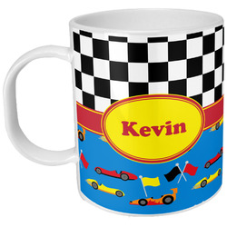 Racing Car Plastic Kids Mug (Personalized)