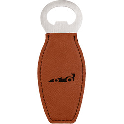 Racing Car Leatherette Bottle Opener (Personalized)