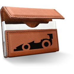 Racing Car Leatherette Business Card Case (Personalized)