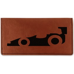 Racing Car Leatherette Checkbook Holder (Personalized)
