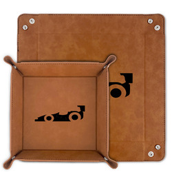 Racing Car Faux Leather Valet Tray (Personalized)