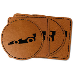 Racing Car Faux Leather Iron On Patch (Personalized)