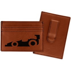 Racing Car Leatherette Wallet with Money Clip (Personalized)