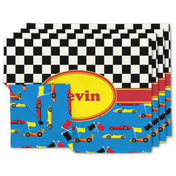 Racing Car Linen Placemat w/ Name or Text