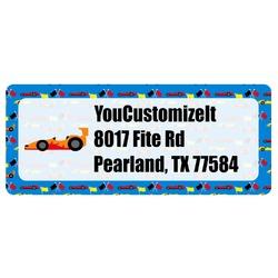 Racing Car Return Address Labels (Personalized)