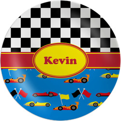 "Racing Car Melamine Plate - 8"" (Personalized)"