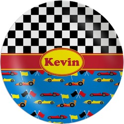 Racing Car Melamine Plate (Personalized)