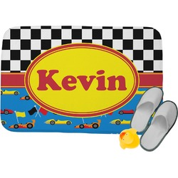 Racing Car Memory Foam Bath Mat (Personalized)