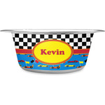 Racing Car Stainless Steel Dog Bowl (Personalized)