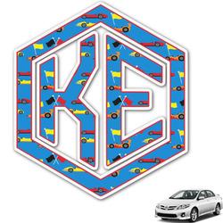 Racing Car Monogram Car Decal (Personalized)