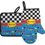 Racing Car Oven Mitt & Pot Holder (Personalized)