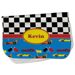 Racing Car Burp Cloth - Fleece w/ Name or Text