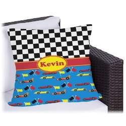 Racing Car Outdoor Pillow (Personalized)
