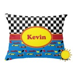 Racing Car Outdoor Throw Pillow (Rectangular) (Personalized)