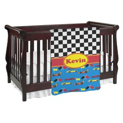Racing Car Baby Blanket (Personalized)