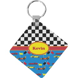 Racing Car Diamond Key Chain (Personalized)